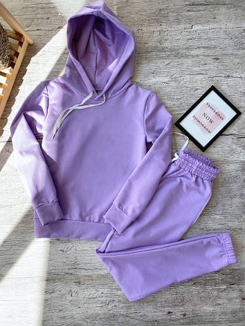 Женский спортивный костюм кенгуру фиолетовый, фото 2