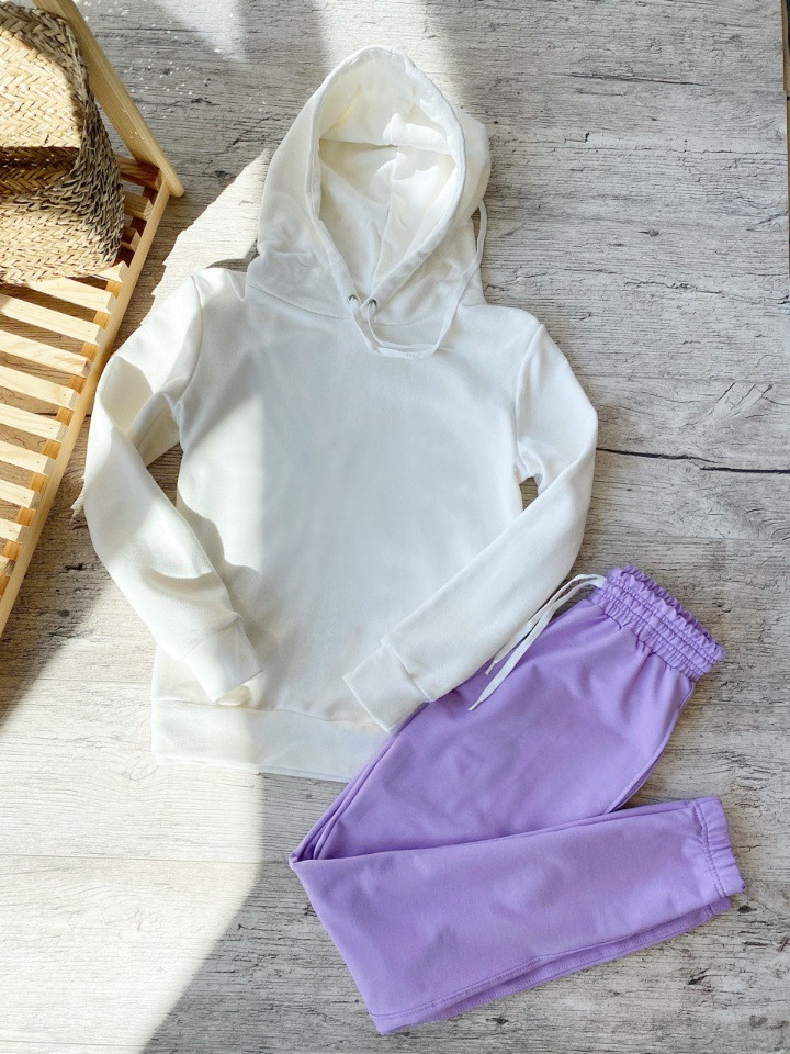 Женский спортивный костюм кенгуру фиолетовый