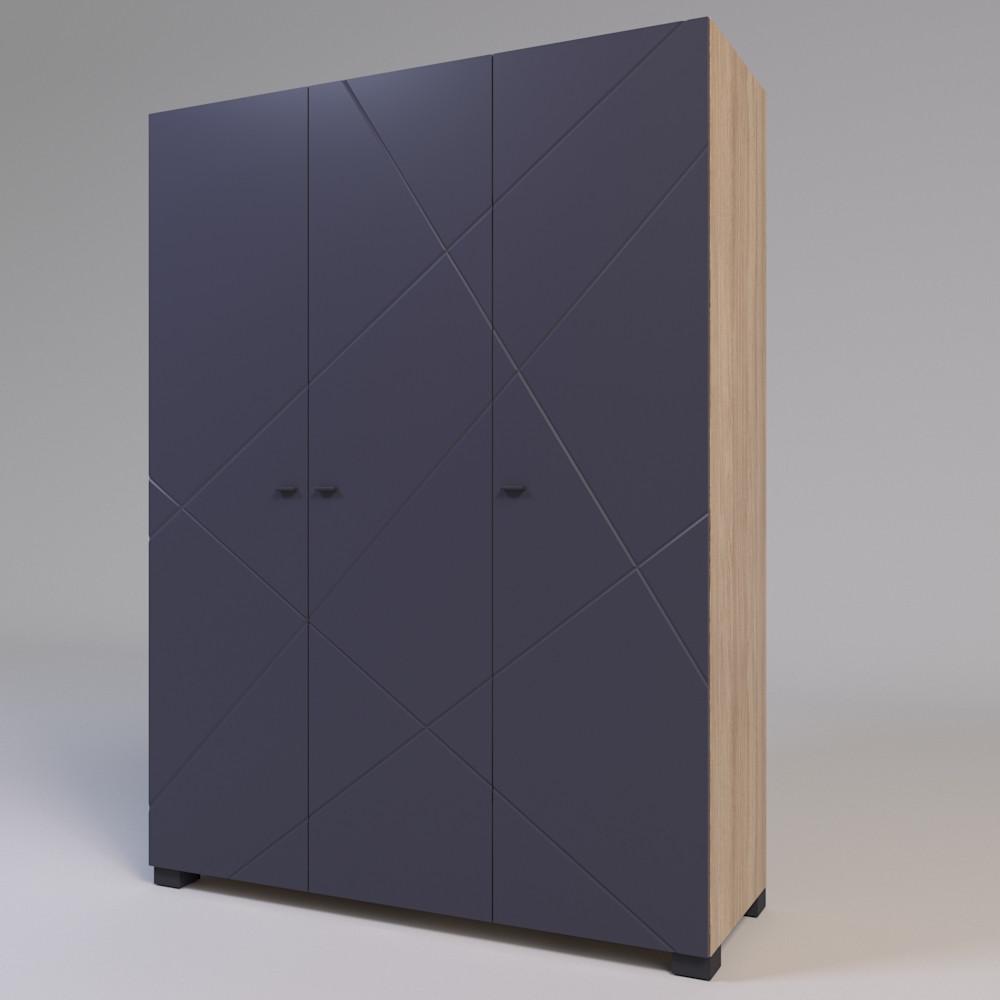 Шкаф трехстворчатый Х-Скаут Х-27 графит мат