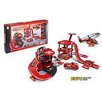 Ігровий набір пожежна станція з машинками і вертолітним майданчиком 74 елемента