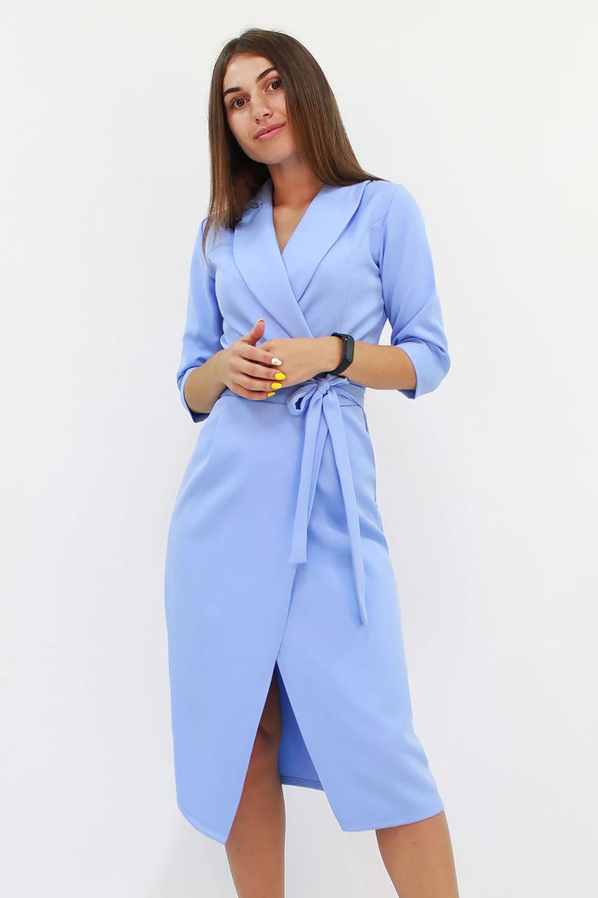 Вечернее платье на запах Barbara, голубое