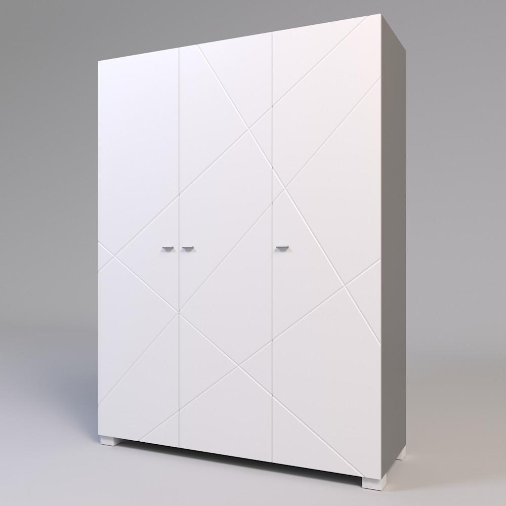 Шкаф трехстворчатый Х-Скаут Х-27 белый мат