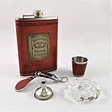 Подарочный Набор 5 в 1 Jack Daniel's ( фляга, лейка, рюмка, пепельница и кусачки для ногтей ), фото 2