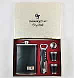 Подарочный Набор 5 в 1 ( фляга, лейка, рюмки и универсальный нож ), фото 8