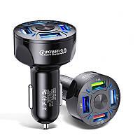 Автомобильное зарядное устройство Alitek BK-358 USB 4 Port 7A: QC 3.0 + 3x2.1A Black