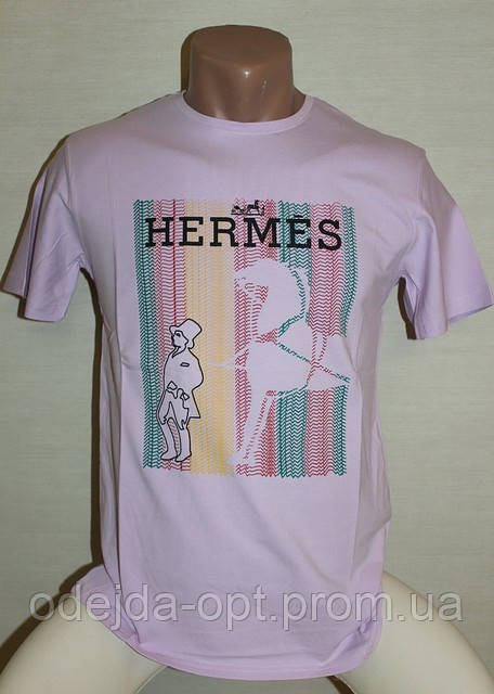 Брендовая мужская футболка турция HERMES