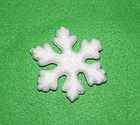Маленька сніжинка з пінопласту 7 см 1500-1