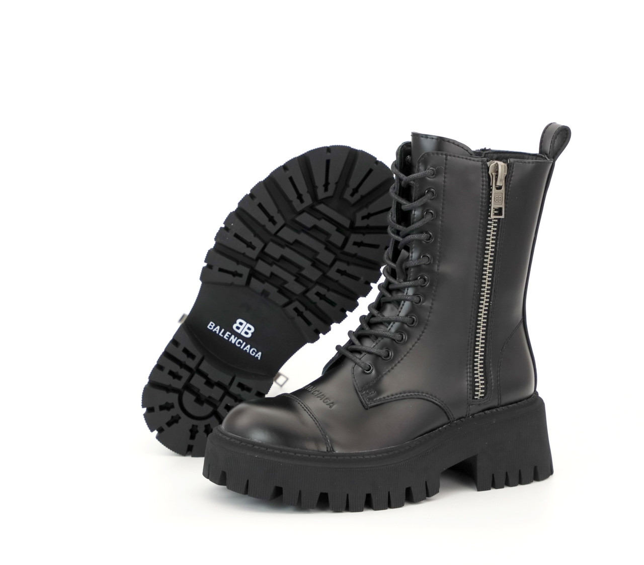 Демисезонные женские ботинки Balenciaga Tractor. ТОП Реплика ААА класса.