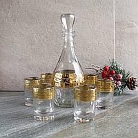 Водочный набор Гусь-Хрустальный Версаче Цезарь графин+6 стопок (EAV08-1161/837), фото 1