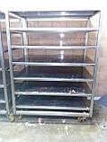 Стелаж виробничий 2200х500х1800 4 полиці з 201 нержавіючої сталі, фото 8