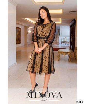 """Романтичное женское платье с прозрачной стрейч-сеточки, ткань """"Трикотаж"""" 50, 54, 58 размер 50, фото 2"""