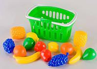 """Игровой набор """"Корзина с фруктами"""" для игры в ресторан или супермаркет."""