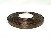 Лента атласная 0,5см / 33метра темно-коричневая №8a