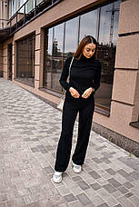 Спортивный костюм женский черный, фото 2