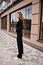 Спортивный костюм женский черный, фото 3