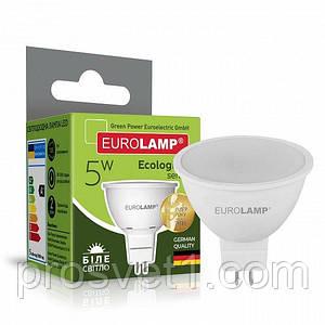Светодиодная лампа EUROLAMP LED SMD MR16 5W GU5.3 4000K 220V