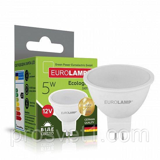 Светодиодная лампа EUROLAMP LED SMD MR16 5W GU5.3 4000K 12V