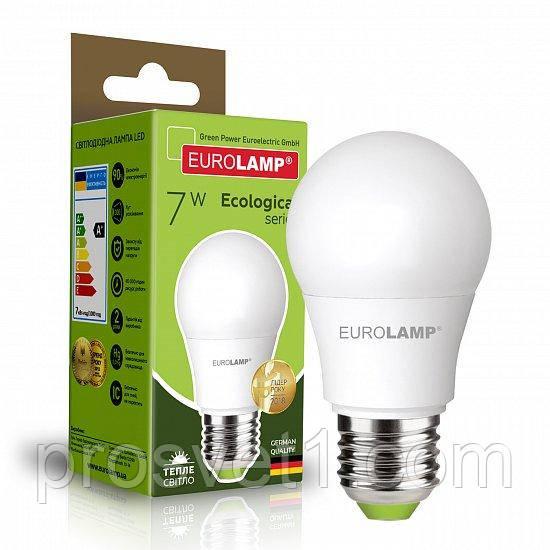 Світлодіодна лампа EUROLAMP LED А50 7W E27 3000K 220V