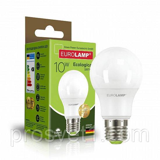 Светодиодная лампа EUROLAMP LED А60 10W E27 3000K 220V