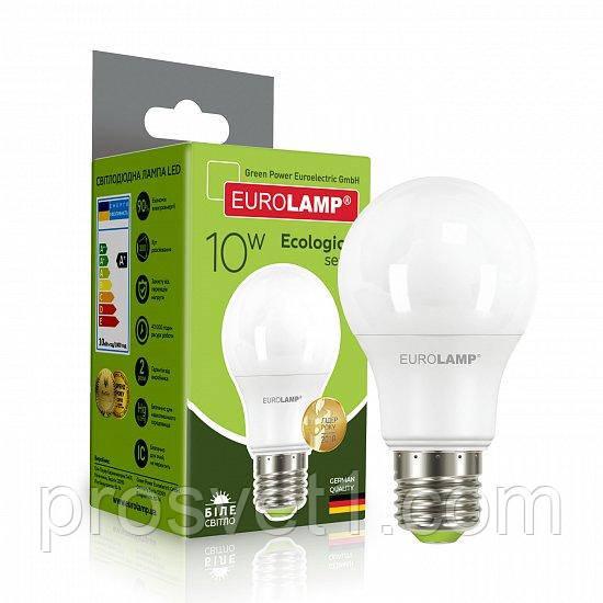 Светодиодная лампа EUROLAMP LED А60 10W E27 4000K 220V
