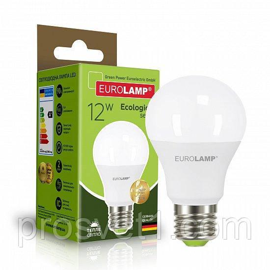 Светодиодная лампа EUROLAMP LED А60 12W E27 3000K 220V