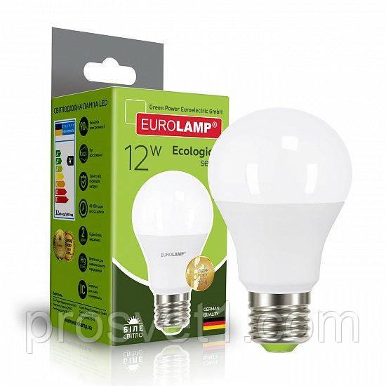 Светодиодная лампа EUROLAMP LED А60 12W E27 4000K 220V