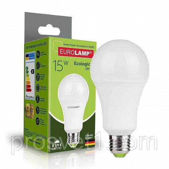 Світлодіодна лампа EUROLAMP LED А70 15W E27 4000K 220V