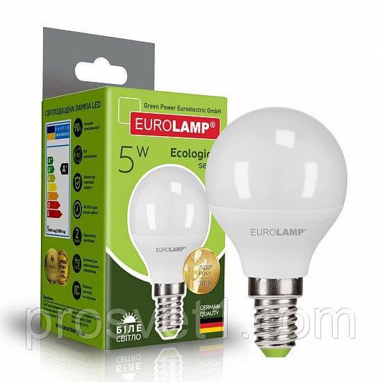 Светодиодная лампа EUROLAMP LED G45 5W E14 4000K 220V