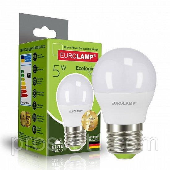 Светодиодная лампа EUROLAMP LED G45 5W E27 4000K 220V