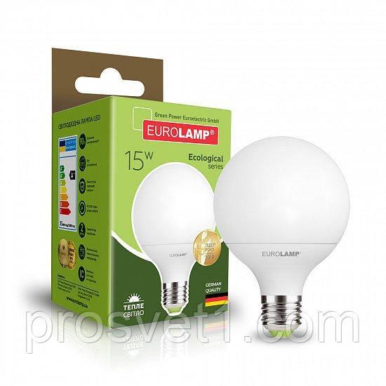 Светодиодная лампа EUROLAMP LED G95 15W E27 3000K 220V