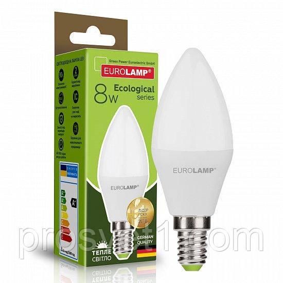 Светодиодная лампа EUROLAMP LED CL 8W E14 3000K 220V