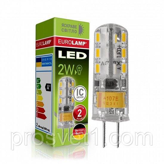 Светодиодная лампа EUROLAMP LED силикон G4 2W 4000K 220V