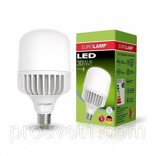 Высокомощная светодиодная лампа EUROLAMP 30W E27 6500K 220V