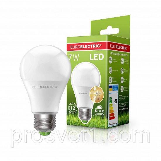 Світлодіодна лампа EUROELECTRIC LED А60 7W E27 4000K 220V