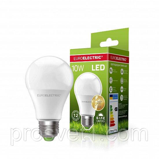 Светодиодная лампа EUROELECTRIC LED А60 10W E27 4000K 220V