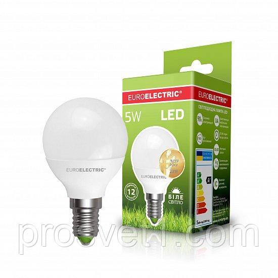Светодиодная лампа EUROELECTRIC LED G45 5W E14 4000K 220V