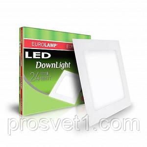 Светодиодный светильник EUROLAMP квадратный Downlight 24W 4000K
