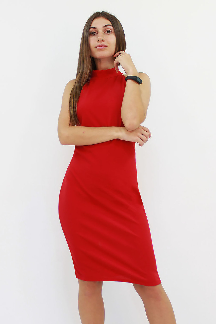 Коктейльное женское платье Golden, красный
