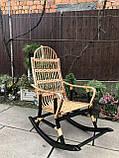 Кресло-качалка из лозы разборное Принцесса-3 Black, фото 2
