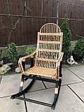Кресло-качалка из лозы разборное Принцесса-3 Black, фото 3