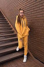 Спортивный костюм женский с капюшоном желтый, фото 3