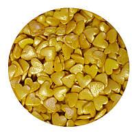 """Посыпка """"Сердечки золото (перламутровые)"""", 50 гр."""