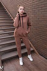 Спортивный костюм женский с капюшоном бежевый, фото 2