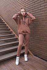 Спортивный костюм женский с капюшоном бежевый, фото 3