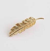 Заколка зажим для волос Перо 8,5см ( цвет золото), фото 1
