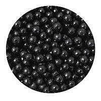 """Посипка """"Перлинні кульки (чорні) 5 мм."""", 50 гр."""