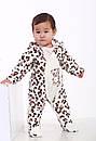 Комбинезон леопардовый для новорождённых (маломерка) велсофт, фото 2