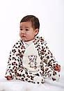 Комбинезон леопардовый для новорождённых (маломерка) велсофт, фото 4