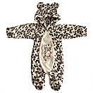 Комбинезон леопардовый для новорождённых (маломерка) велсофт, фото 5