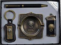 Подарочный набор зажигалка.ручка.брелок.пепельница